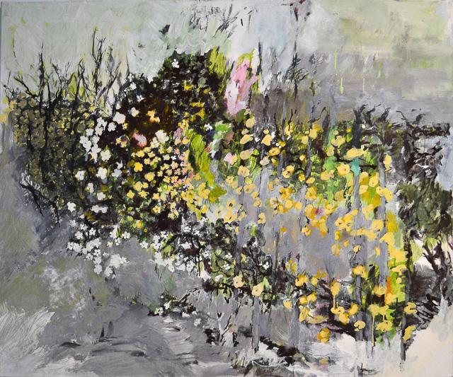 Blumen, Eitempera, 160 x 102 cm, 2012