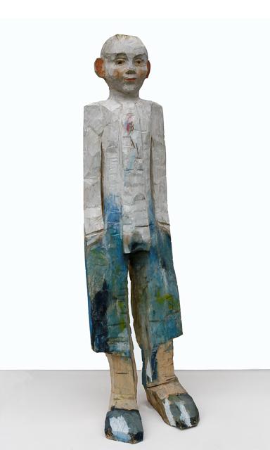 Junge, Holz, 150 x 50 cm, 2004