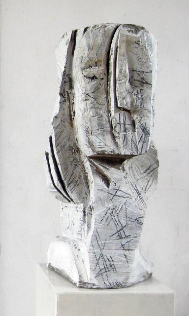 Kopf, Holz, 70cm x 29 cm x 33 cm, 2012